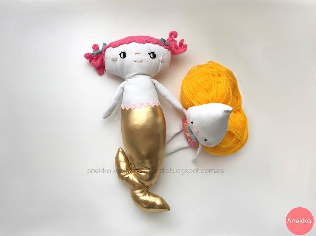 one of a kind doll mermaid