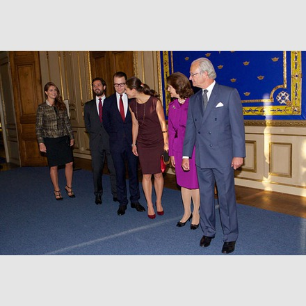 Princess Madeleine, Crown Princess Victoria, Queen Silvia attended the opening of the Exhibition '40 years on the throne serving Sweden