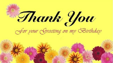Thank You Messages Images For Birthday Wishes And For Birthday