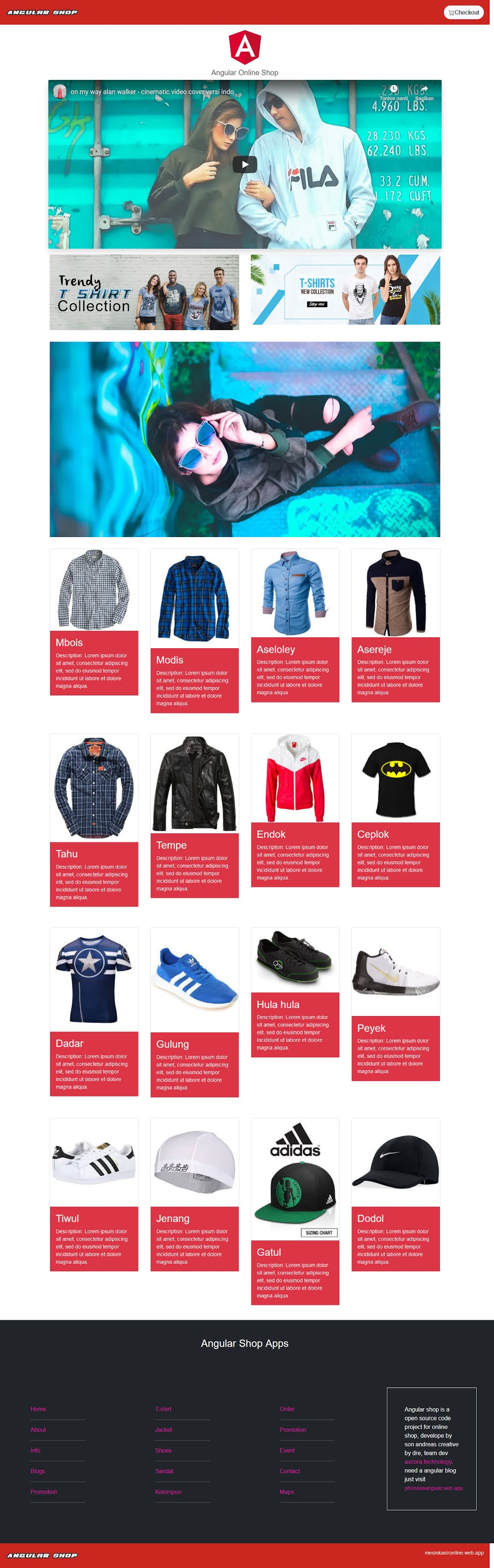 free download new modern online shop build with angular