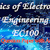 Solved Model Question Paper:Basics of Electronics Engineering EC100