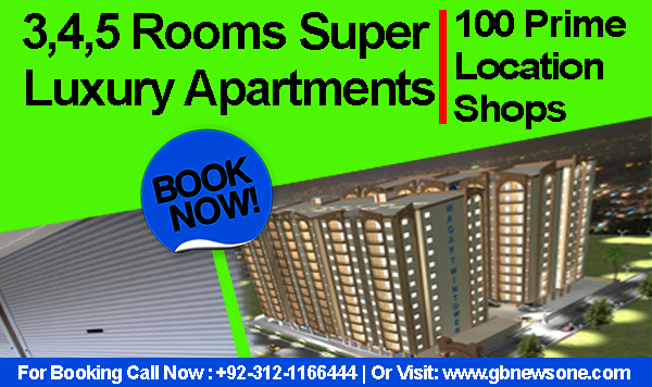 3,4,5 Rooms Super Luxury Apartments & 100 Prime Location Shops