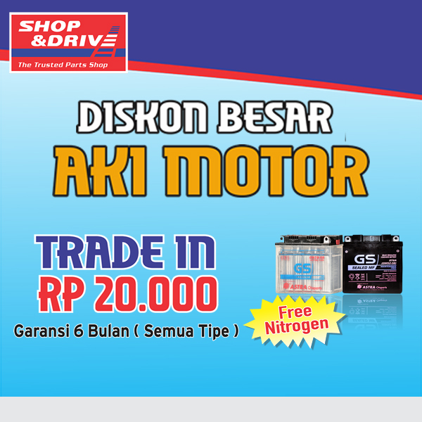 Promo Trade In Aki Motor di Outlet Shop&Drive dan Shop&Bike