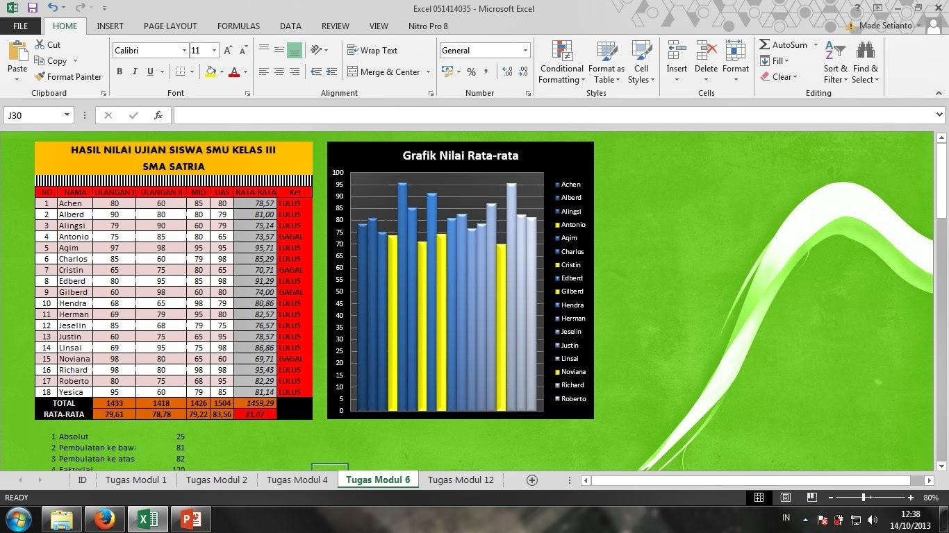 Tugas Penutup Materi Ms Excel