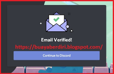 Email Verified pada akun discord pb zepetto