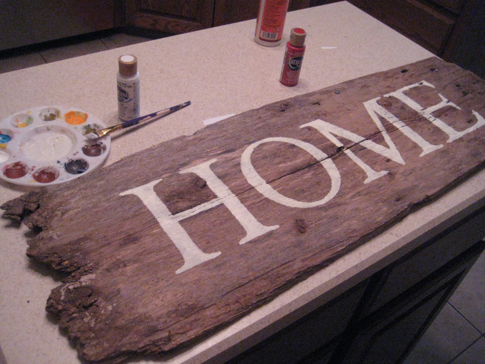Adventures In Creating Salvaged Barn Wood Sign