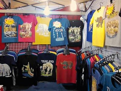oleh-oleh kaos gajah murah khas bangkok thailand