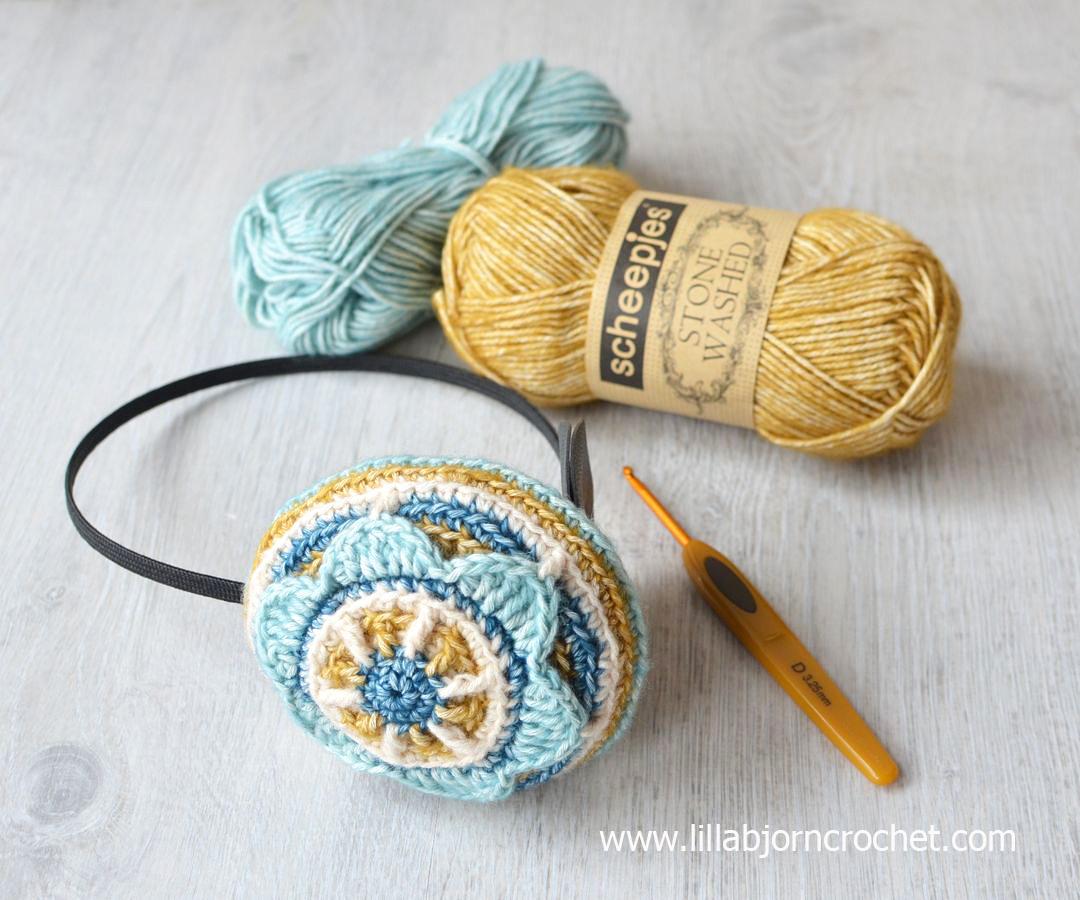 4ac49b624a7 Crochet ear warmers (ear muffs) by Lilla Bjorn Crochet