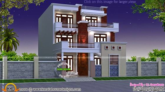 Modern three storied home