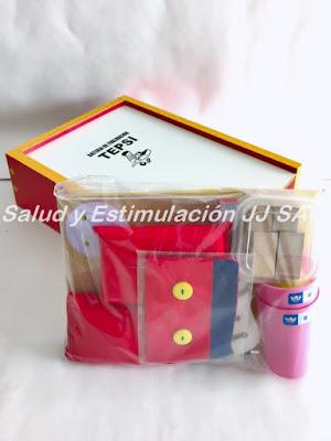 Caja melamina bateria tepsi colores blanco y rojo