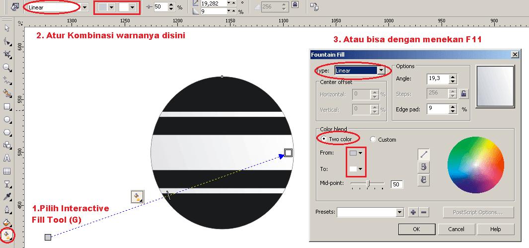 Langkah-langkah Cara Membuat Logo Indosiar Menggunakan
