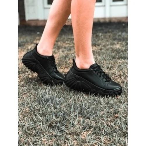 Tênis Buffalo Velace Plataforma Chunky Sneaker Feminino Preto