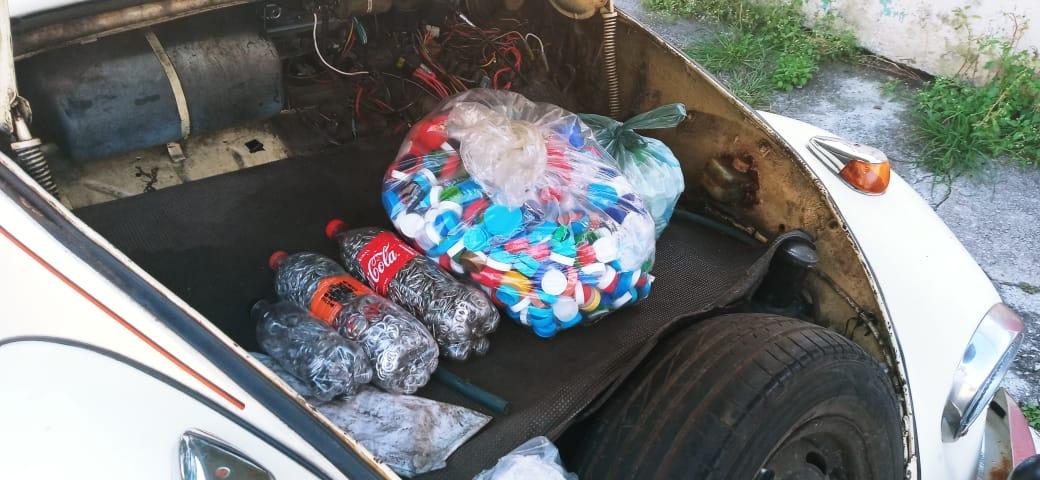 Fusquinha do Bem : Coleta de Tampas Plásticas e Lacres de Lata de Alumínio