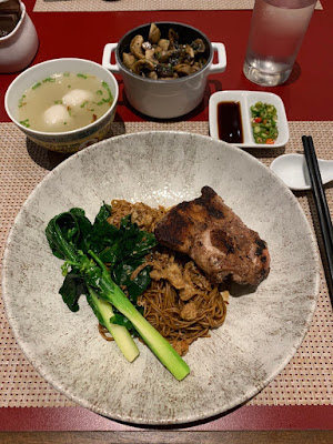 Dry noodles with duck at Quan's Kitchen