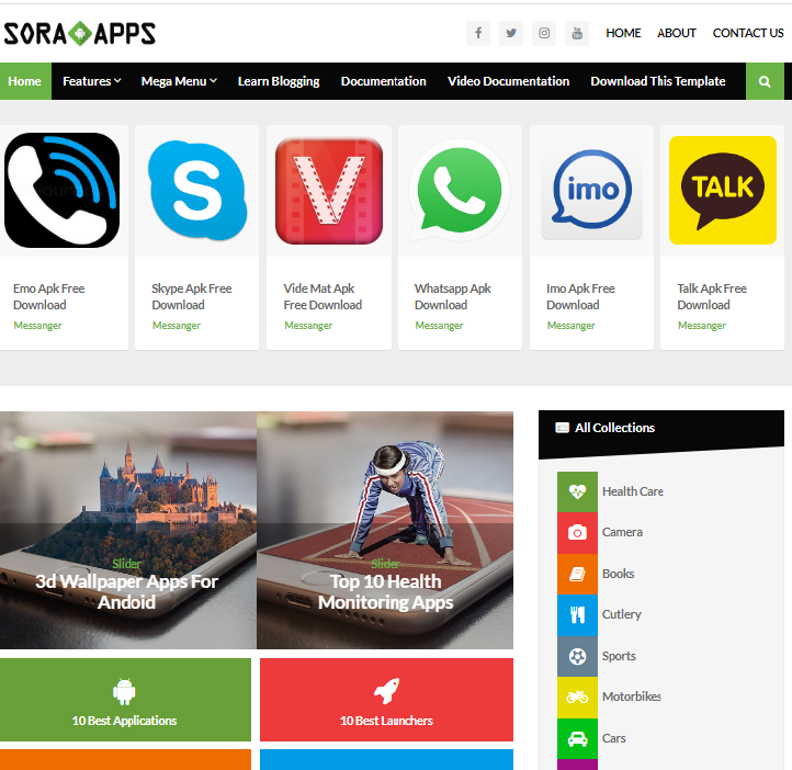 Sora App Blogger Template Free Download