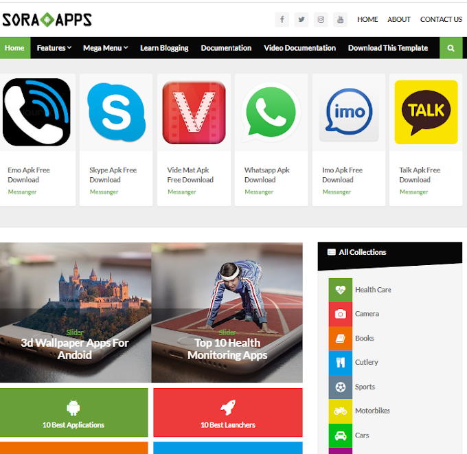 Sora App Blogger Template Free Download | Sora App Blogger Theme Download