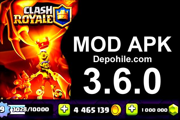 Clash Royale 3.6.0 Renkuzao Elmas, Altın Hileli Mod Apk 2021
