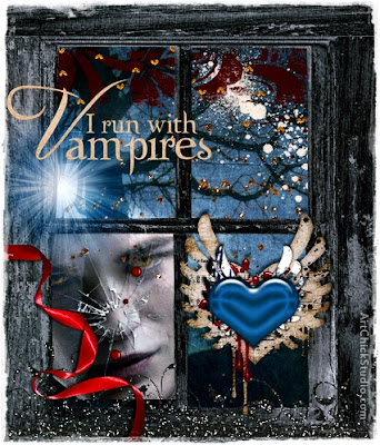I Run With Vampires Twilight Digital Art
