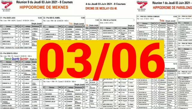 programme jumulé quarte+ jeudi 03/06/2021