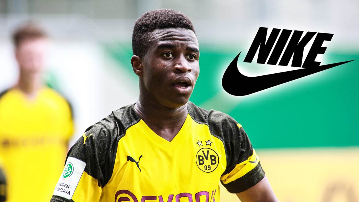 best sneakers b7f82 a239b ... already featured in Nike s catalog for the 2019-2020 season. Now it  seems like that Youssoufa Moukoko has signed what is likely a  record-breaking deal ...