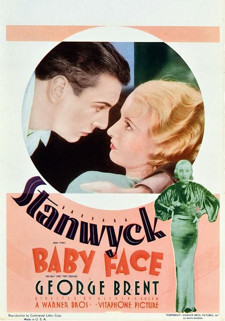 Cartaz de Baby face (1961), filme em que uma mulher ambiciosa é redimida pelo amor