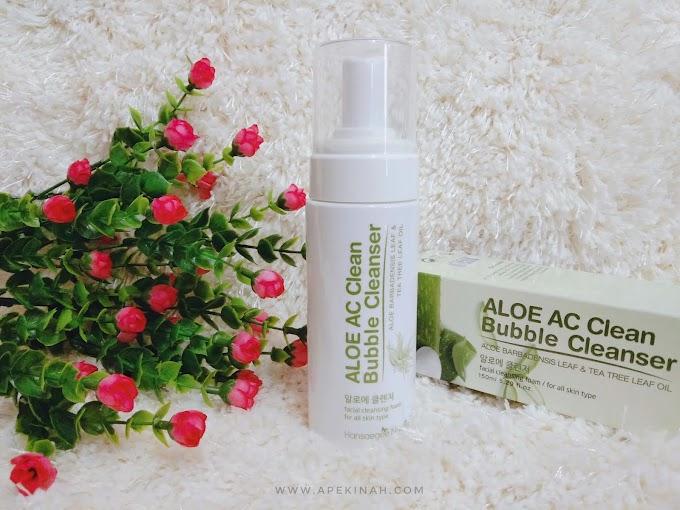 Kulit Semakin Bersih dan Lembap Dengan Hansaegee Nature Aloe AC Clean Bubble Cleanser
