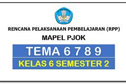 RPP 1 Lembar PJOK KK 13 SD/MI Kelas 6