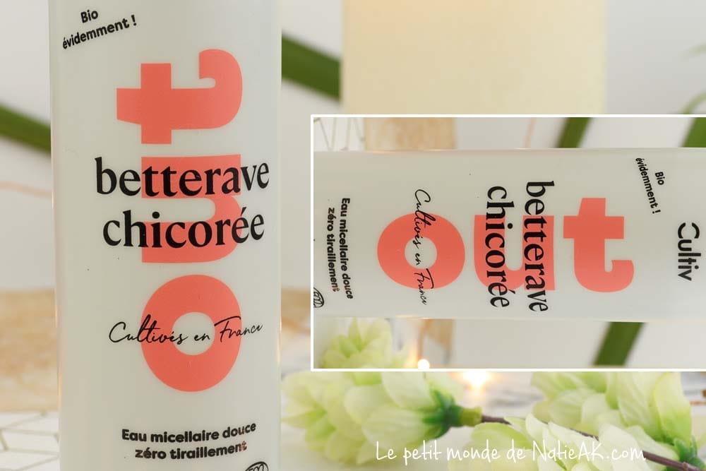 Cultiv Eau micellaire hydratante bio Betterave chicorée