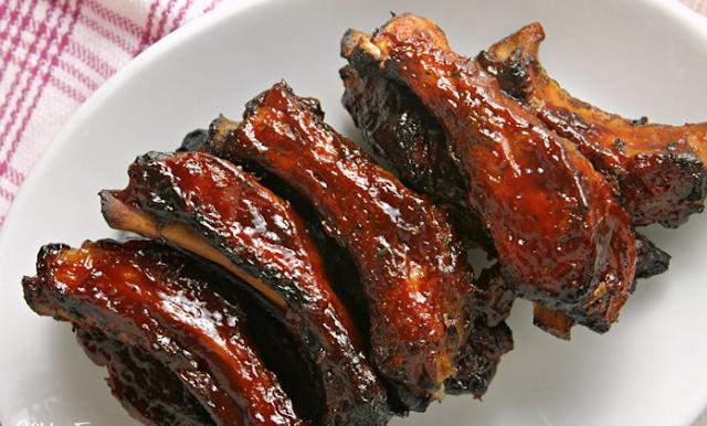 Slow Cooker Dr. Pepper BBQ Ribs #weeknight #dinner
