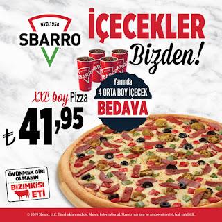 sbarro pizza kampanya ve fırsatlar