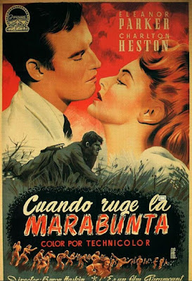 Poster de la película Cuando ruge la marabunta (The Naked Jungle)