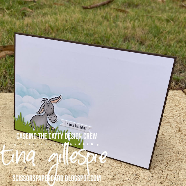 scissorspapercard, Stampin' Up!, CASEing The Catty, Darling Donkeys, In Good Taste DSP, Wiggly Bugs Dies, Rainbow Builder Dies, Stampin' Blends