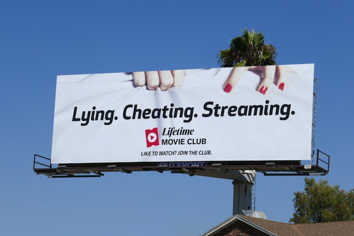 Lying Cheating Lifetime Movie Club billboard