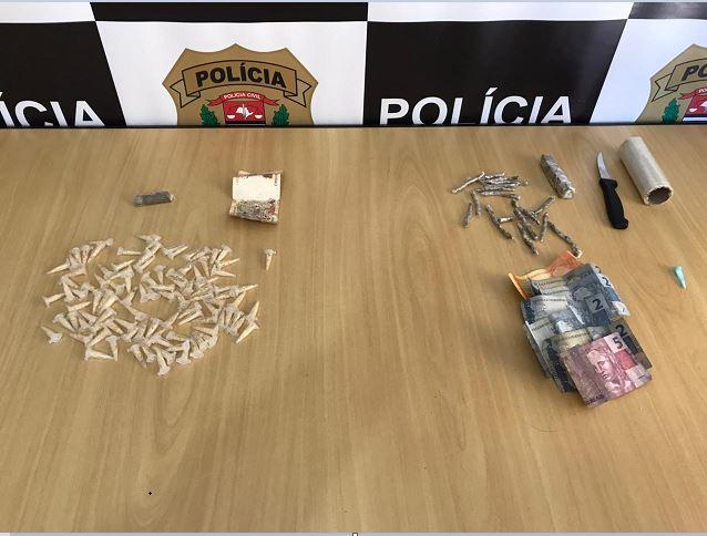 Polícia Civil prende em flagrante suspeito de tráfico de drogas em Registro-SP