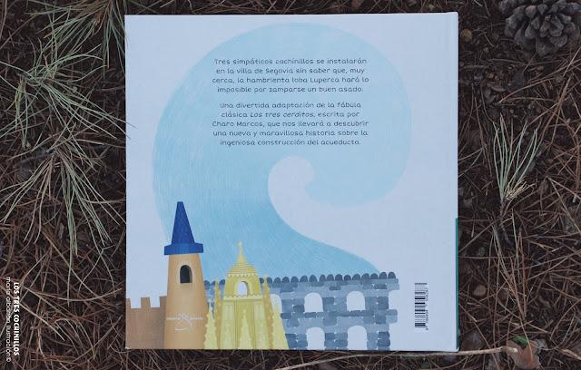 Contraportada - Los Tres Cochinillos - Maria Albarran Ilustracion