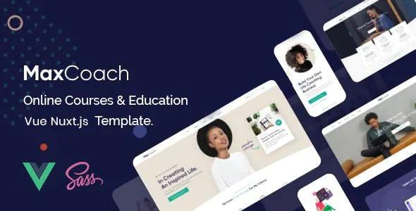 Best Online Courses & Education Vue Nuxt JS Template