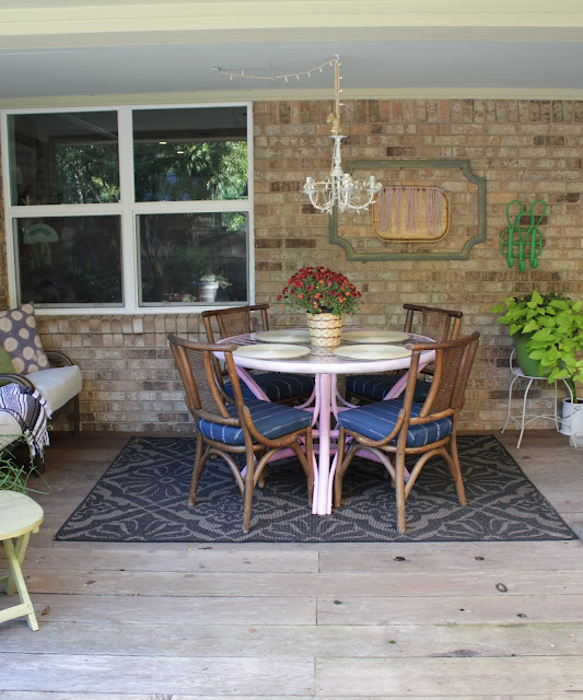 Boho porch tour