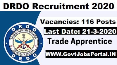 DRDO Apprentice 2020