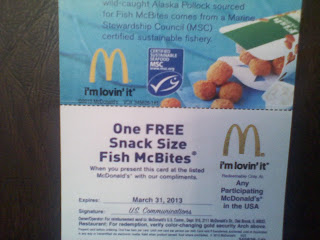 McDonald's, giveaway, coupons