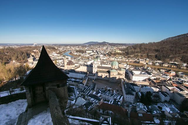 Vista dal Festung Hohensalzburg (fortezza) di Salisburgo