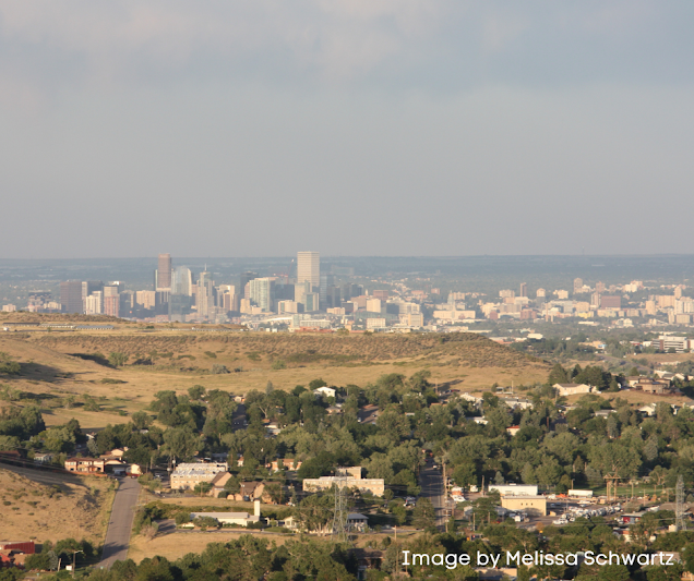 Breathtaking view of Denver from Lookout Mountain in Golden, Colorado.