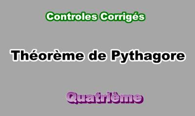 Controles Corrigés Sur Théorème de Pythagore 4eme en PDF