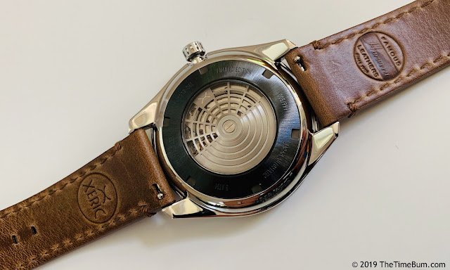 Xeric Cypher Automatic Tritium Silver Green case back