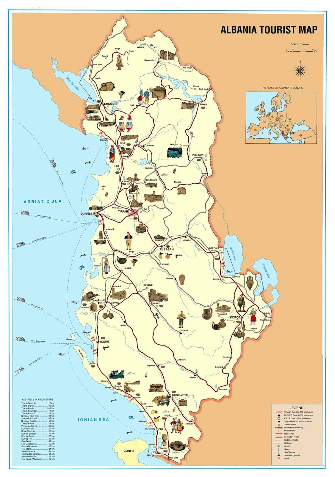 Harta Turistike e Shqipërisë