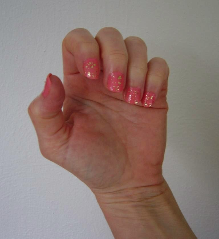 Cagney Gold Flecked Manicure Duo with gold flecks.jpeg