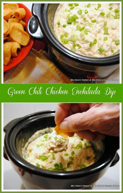 Green Chili Chicken Enchilada Dip at Miz Helen's Country Cottage