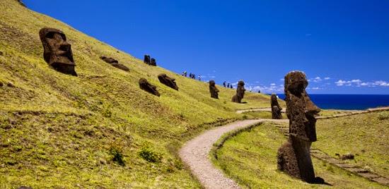 trilhas da ilha de pascoa