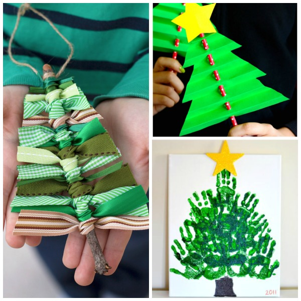 35 CHRISTMAS TREE CRAFTS FOR KIDS- so many cute ideas!  #Christmascrafts #kidscrafts