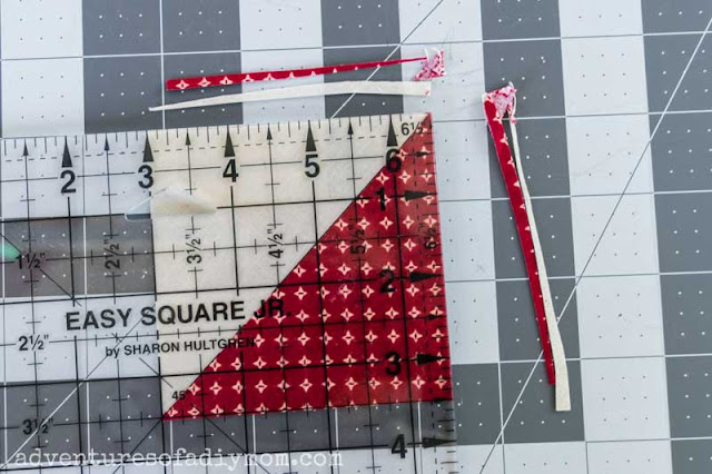 squaring up a half square triangle