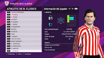 PES 2020 PS4 Option File Classic La Liga